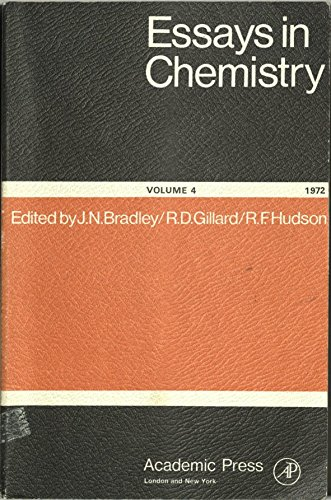 9780121241049: Essays in Chemistry: v. 4