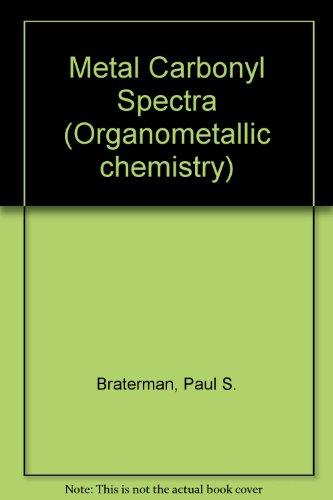 9780121258504: Metal Carbonyl Spectra (Organometallic chemistry)
