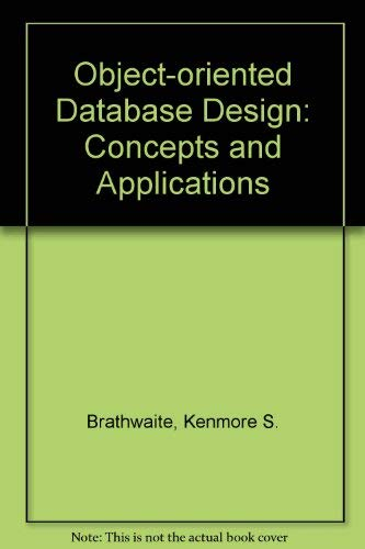 9780121258825: Object-Oriented Database Design: Concepts and Application