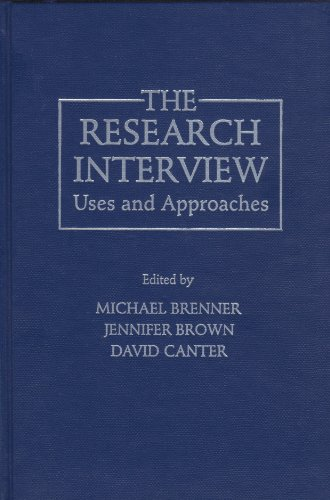 9780121315801: The Research Interview: Uses and Approaches
