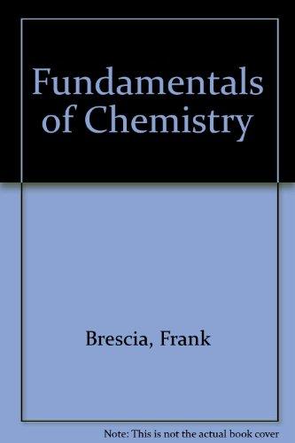 9780121323721: Fundamentals of Chemistry