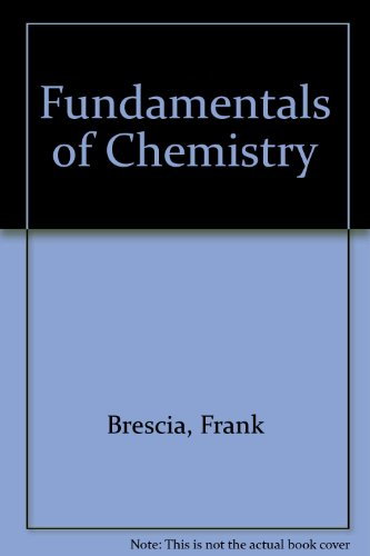 9780121323721: Fundamentals of Chemistry