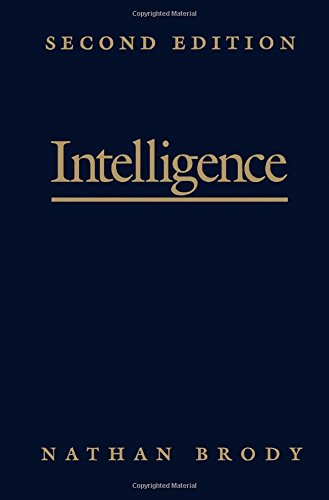 9780121342517: Intelligence, Second Edition