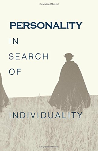 9780121348458: Personality in Search of Individuality