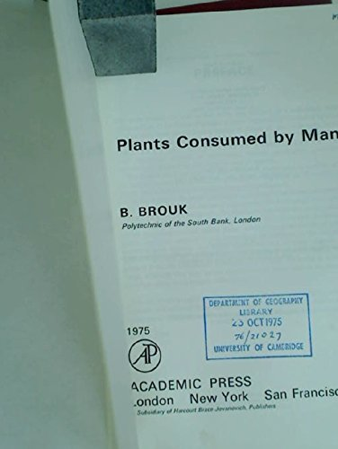 Plants Consumed by Man: Brouk, B.