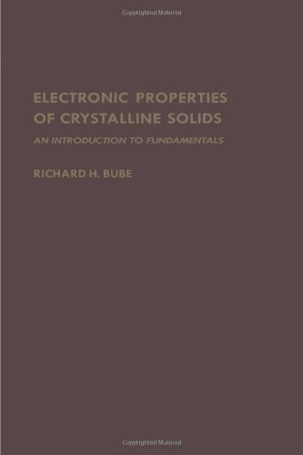 9780121385507: Electronic Properties of Crystalline Solids: An Introduction to Fundamentals