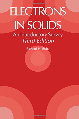9780121385538: Electrons in Solids: An Introductory Survey