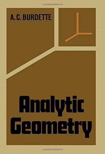 Analytic geometry: A.C. Burdette