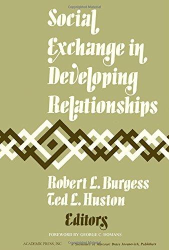 9780121435509: Social Exchange in Developing Relationships