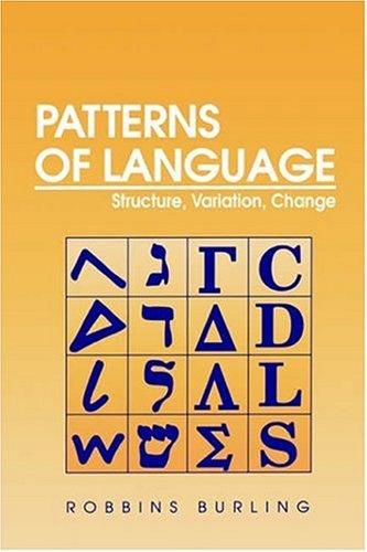9780121449209: Patterns of Language
