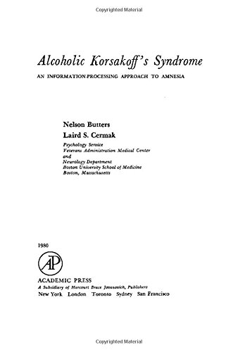 9780121483807: Alcoholic Korsakoff's Syndrome: An Information Processing Approach to Amnesia