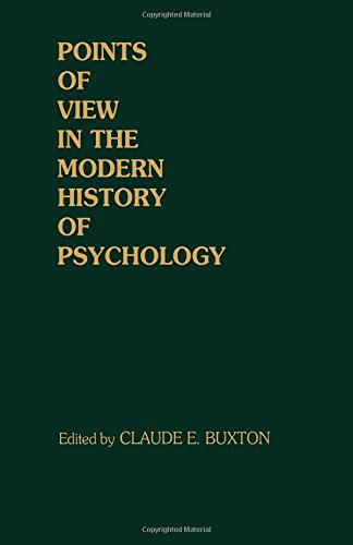 9780121485108: Points of View in the Modern History of Psychology