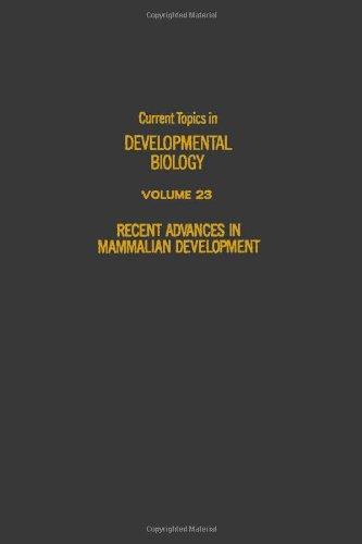9780121531232: Current Topics in Developmental Biology: Recent Advances in Mammalian Development v. 23