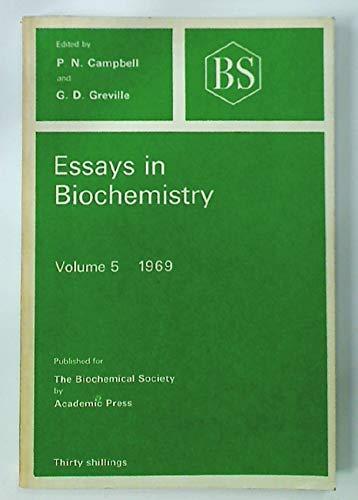 9780121581053: Essays in Biochemistry: v. 5