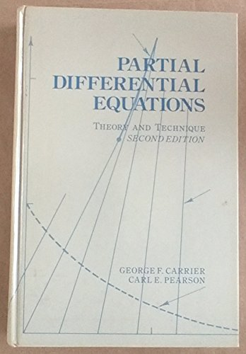 9780121604516: Partial Differential Equations: Theory and Techniques