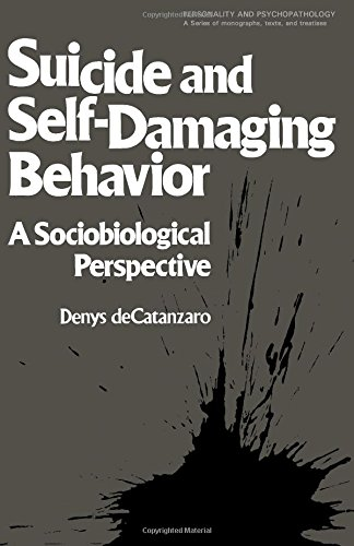 9780121638801: Suicide/self-damage Behav (Personality & Psycho-pathology Monographs)