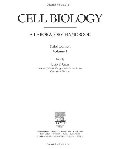 9780121647315: Cell Biology, Four-Volume Set: Cell Biology, Volume 1, Third Edition: A Laboratory Handbook