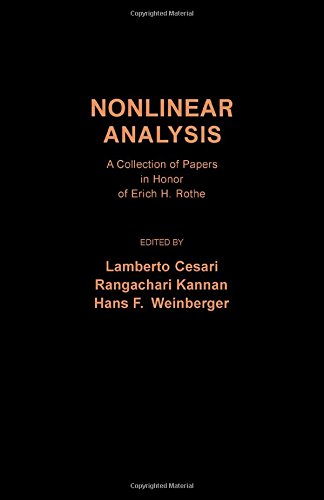 9780121655501: Nonlinear Analysis: A Collection of Papers in Honour of E.H.Rothe