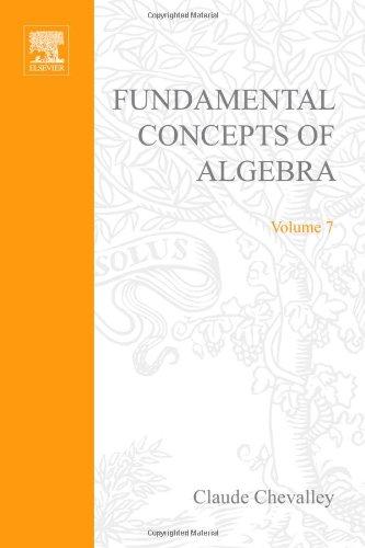 9780121720506: Fundamental Concepts of Algebra (Pure & Applied Mathematics)