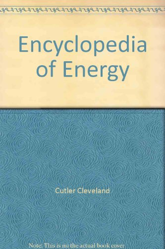 9780121764838: Encyclopedia of Energy