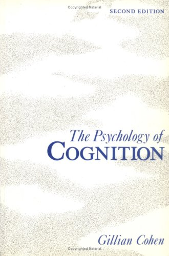 9780121787622: Psychology of Cognition, Second Edition