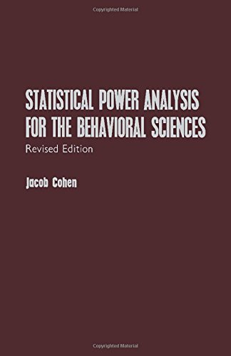 Statistical Power Analysis for the Behavioral Sciences: Cohen, Jacob Willem