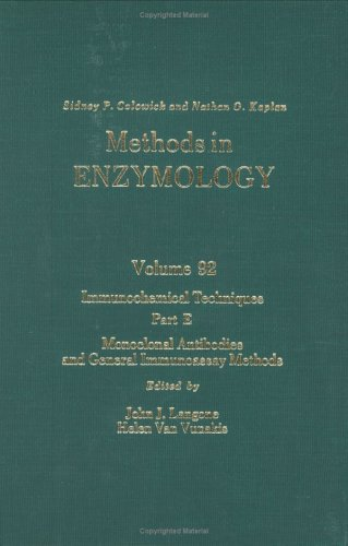 9780121819927: Methods in Enzymology, Volume 92: Immunochemical Techniques, Part E: Monoclonal Antibodies and General Immunoassay Methods