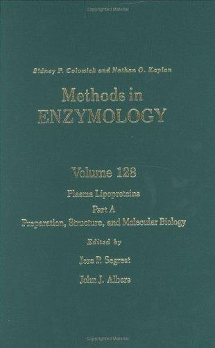 9780121820282: Plasma Lipoproteins, Part A: Preparation, Structure, and Molecular Biology, Volume 128: Volume 128: Plasma Lipoproteins Part A (Methods in Enzymology)