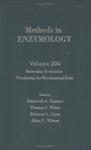 Molecular Evolution: Producing the Biochemical Data, Volume
