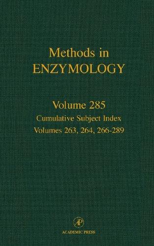 9780121821869: Cumulative Subject Index, Volume 285: Cumulative Subject Index Volumes 263, 264, 266-289 (Methods in Enzymology)