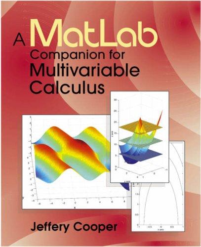 9780121876258: A Matlab Companion for Multivariable Calculus