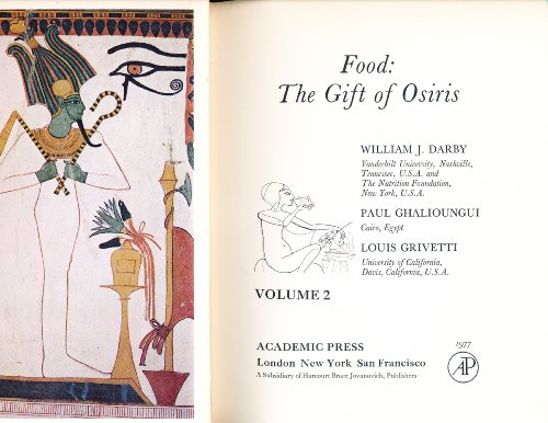 Food : The Gift of Osiris Vol. 2 (1977, Hardcover): Unknown