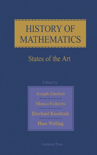 9780122040559: History of Mathematics: States of the Art