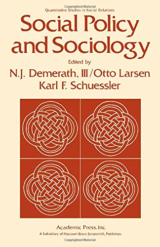 9780122094507: Social Policy and Sociology (Quantitative studies in social relations)