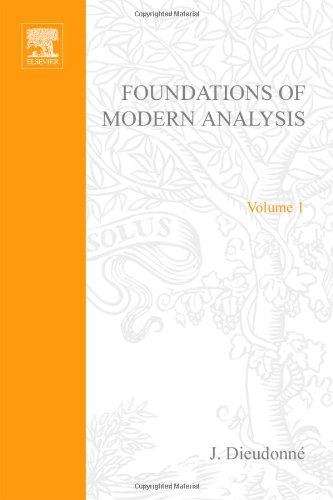 9780122155505: Foundations of Modern Analysis Volume 1