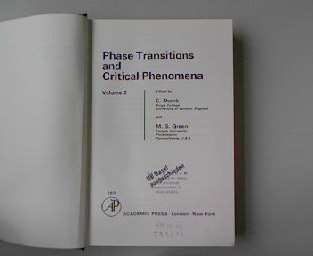 9780122203022: Phase Transitions and Critical Phenomena: v. 2