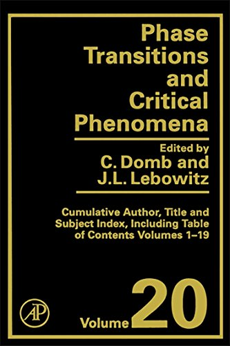9780122203206: Index, Volume 20 (Phase Transitions and Critical Phenomena)