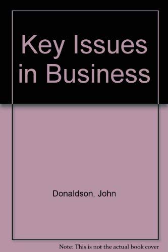 9780122205408: Key Issues in Business Ethics