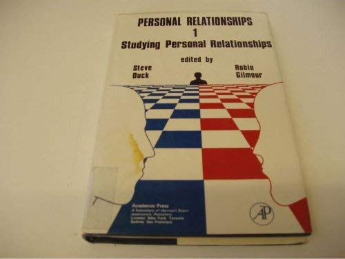 9780122228018: Personal Relationships, Vol. 1: Studying Personal Relationships
