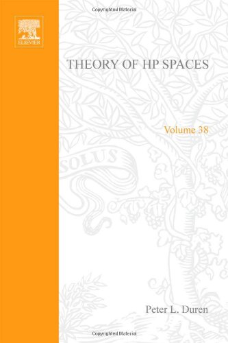 9780122251504: Theory of H[superscript p] spaces, Volume 38 (Pure and Applied Mathematics)