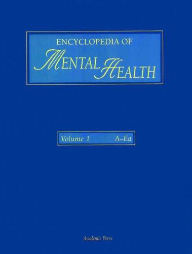 9780122266751: Encyclopedia of Mental Health, Three-Volume Set
