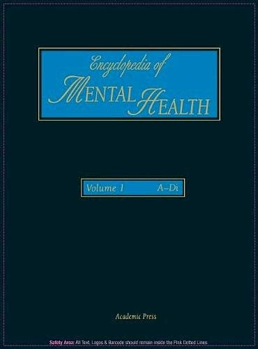 9780122266768: Encyclopedia of Mental Health: Vol 1
