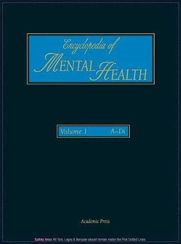 9780122266768: Encyclopedia of Mental Health, Vol. 1: A-Di