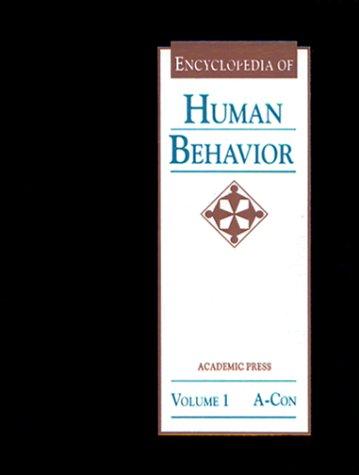 9780122269202: Encyclopedia of Human Behavior, Four-Volume Set: 1-4