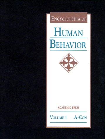 9780122269219: Encyclopedia of Human Behavior