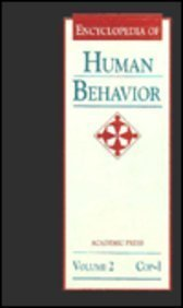 9780122269226: Encyclopedia of Human Behavior: 2 (Encyclopedia of Human Behavior, Four-Volume Set)