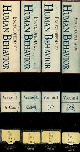 9780122269233: Encyclopedia of Human Behavior, Volume 3 (Encyclopedia of Human Behavior, Four-Volume Set)