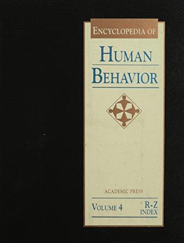 9780122269240: Encyclopedia of Human Behavior: 4