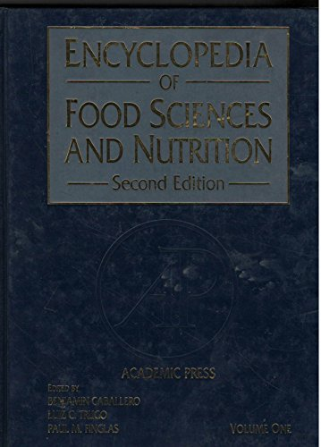 9780122270567: Encyclopedia Food Science Food Technology Anf Nutrition Volume 1 APL.