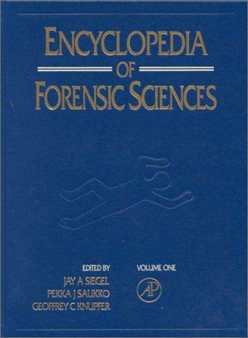 9780122272165: Encyclopedia of Forensic Sciences: Vol 1